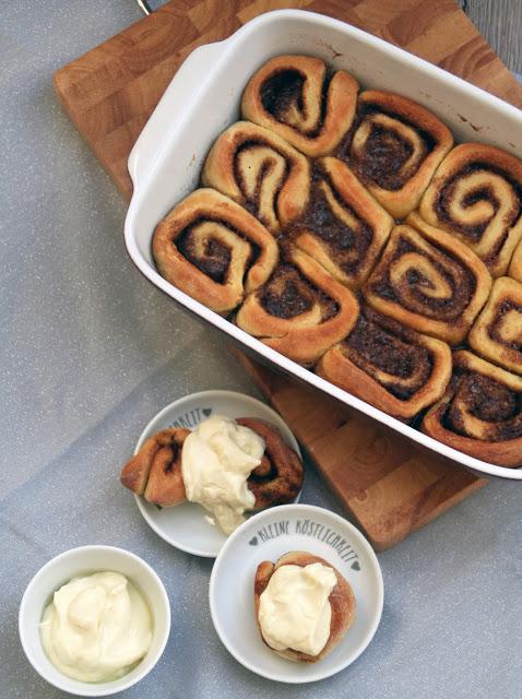 Cinnamon Rolls mit Earl-Grey-Frosting