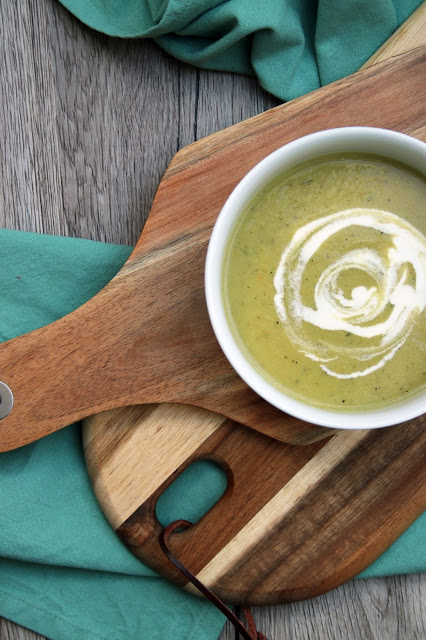 Blumenkohl-Lauch-Creme-Suppe