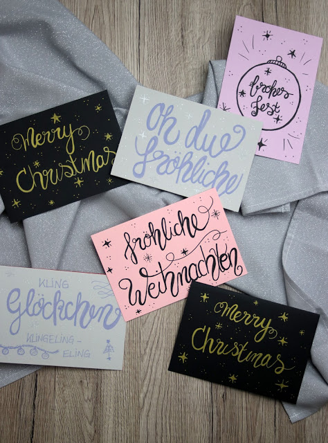 Geletterte Weihnachtskarten