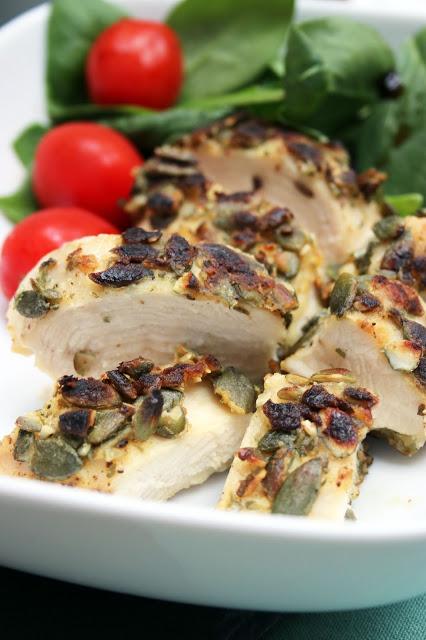 Hähnchenbrustfilet mit Kürbiskernkruste