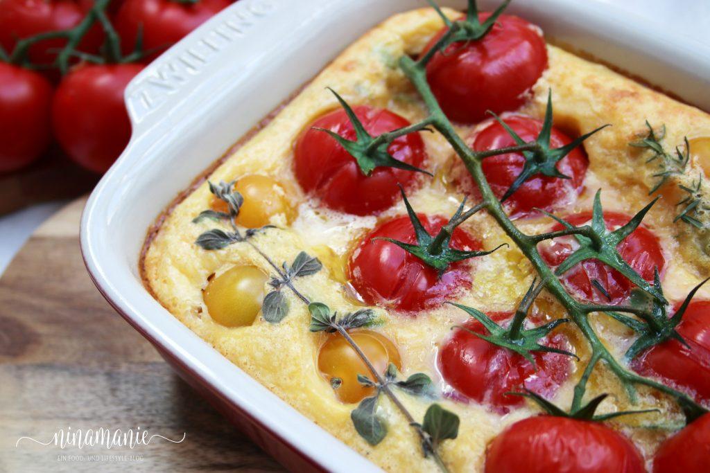 Clafoutis mit Tomaten