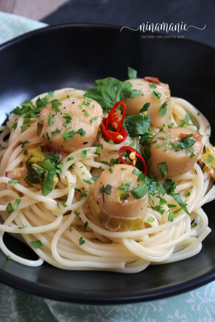 Spaghetti mit Jakosbmuscheln