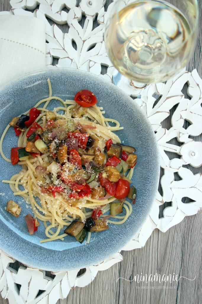 Spaghetti mit Ratatouille