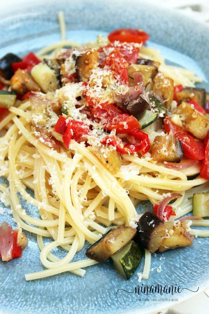 Spaghetti mit Ofengemüse