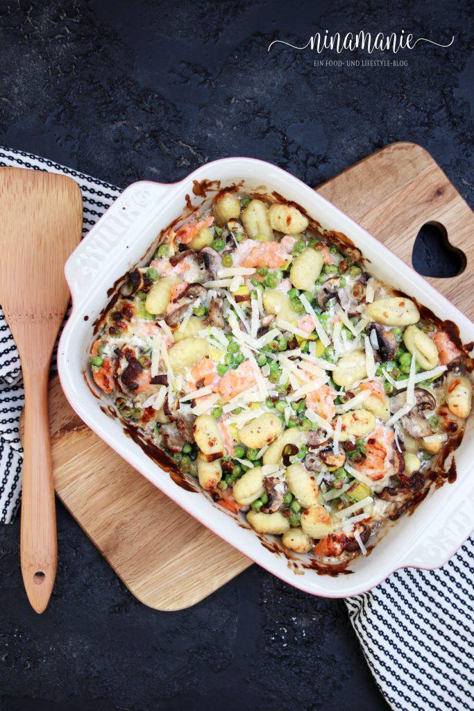 Gnocchi mit Erbsen und Parmesanrahm