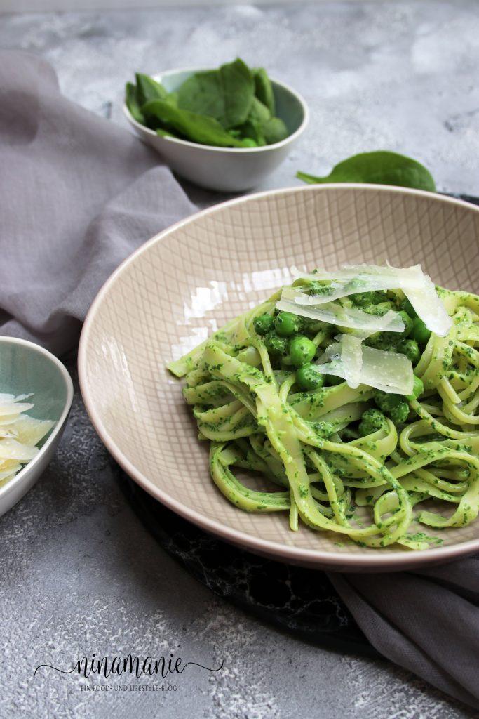 Grüne Pasta Seelenschmeichelei