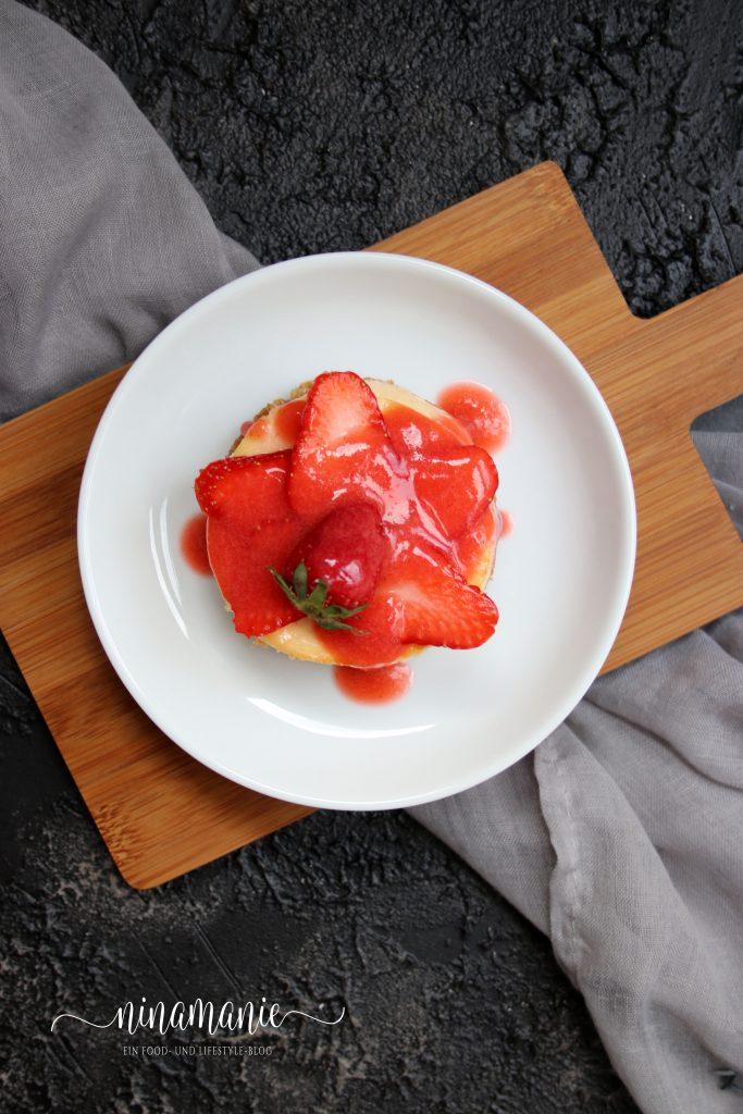 Erdbeer-Käseküchlein Flat