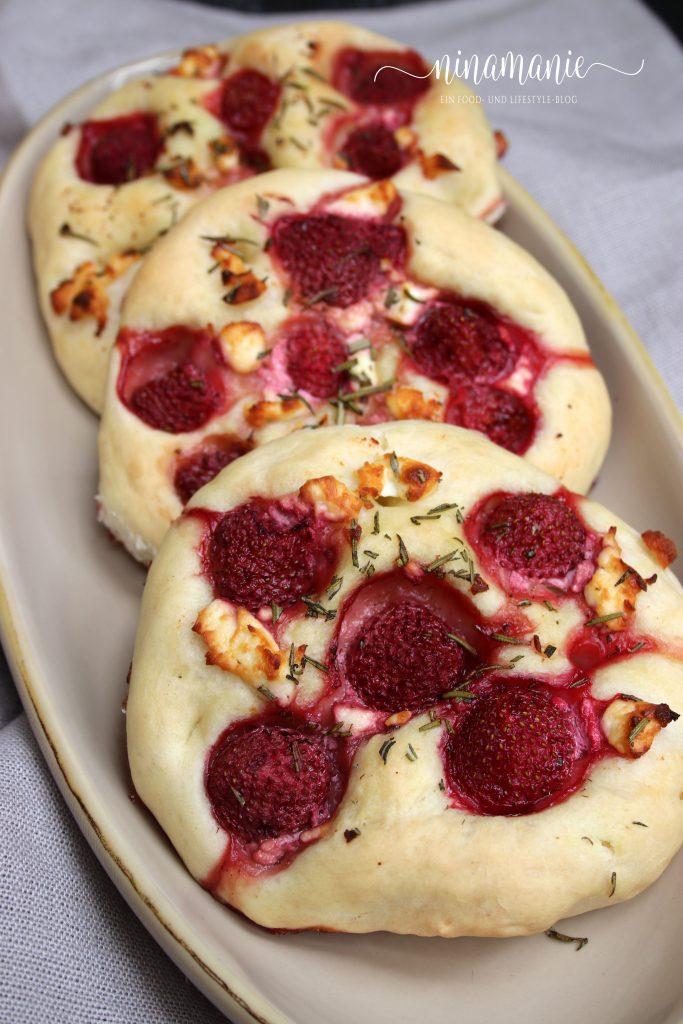 Erdbeer-Focaccias