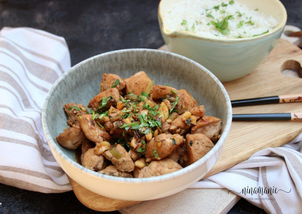 Zitronengras-Poulet mit Reis
