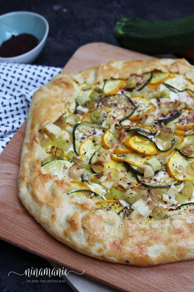 Zucchini-Lauch-Tarte