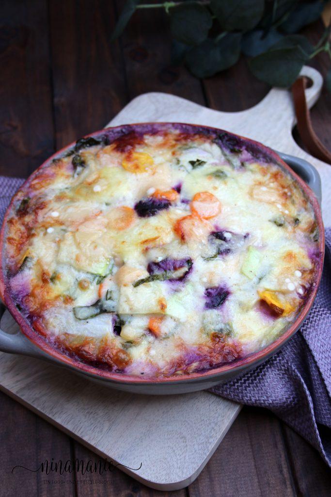 Möhren-Kohlrabi-Kartoffel-Auflauf