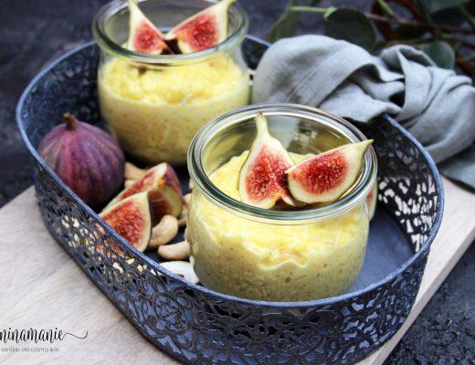Milchreis mit Safran und Feigen