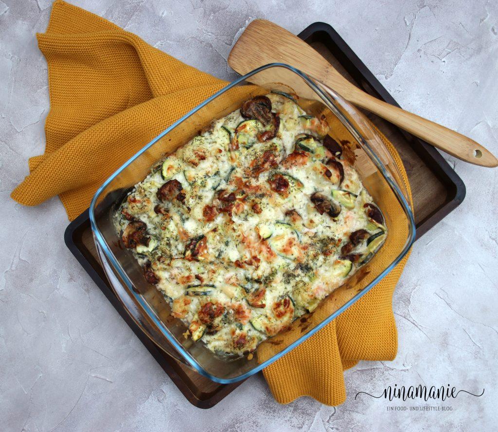 Auflauf mit Blumenkohl und Zucchini
