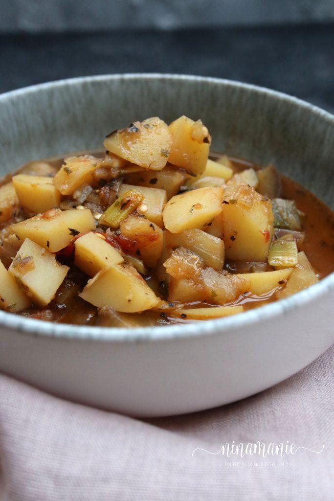 Auberginen-Kartoffel-Eintopf