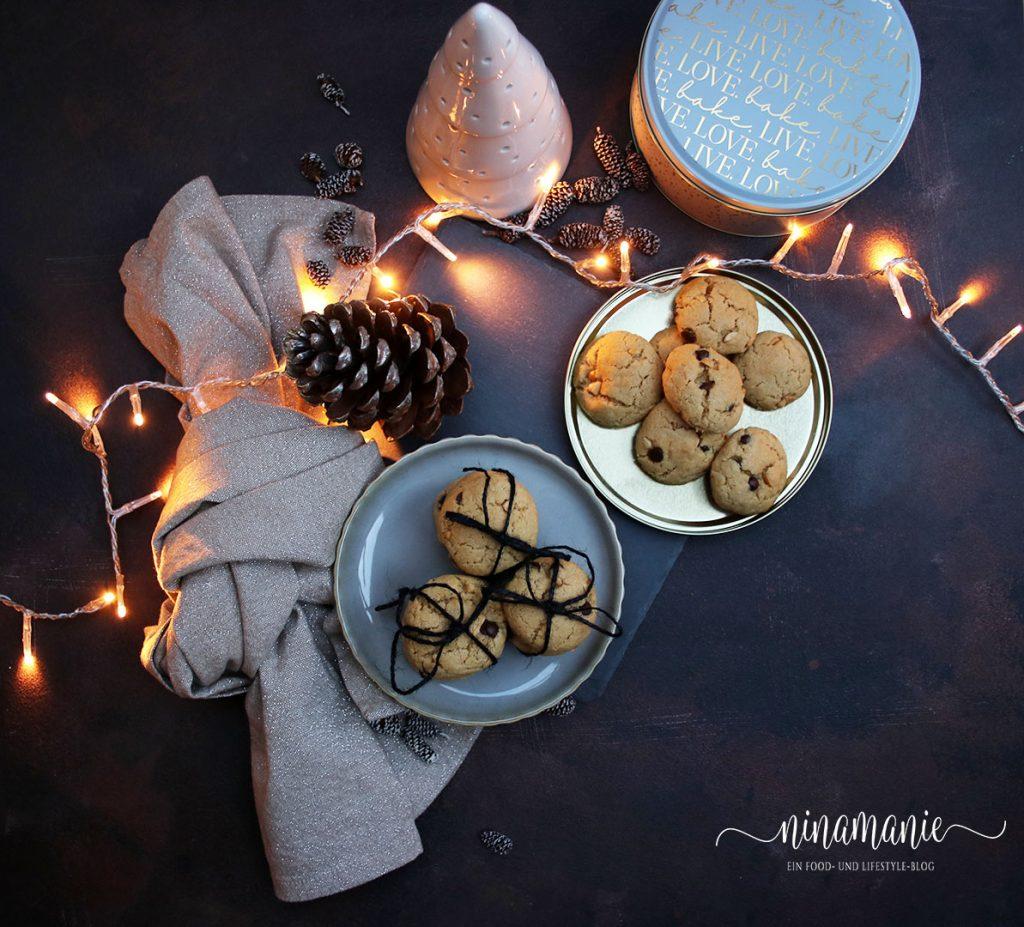 Peanut Butter Cookies / Erdnussbutter-Plätzchen