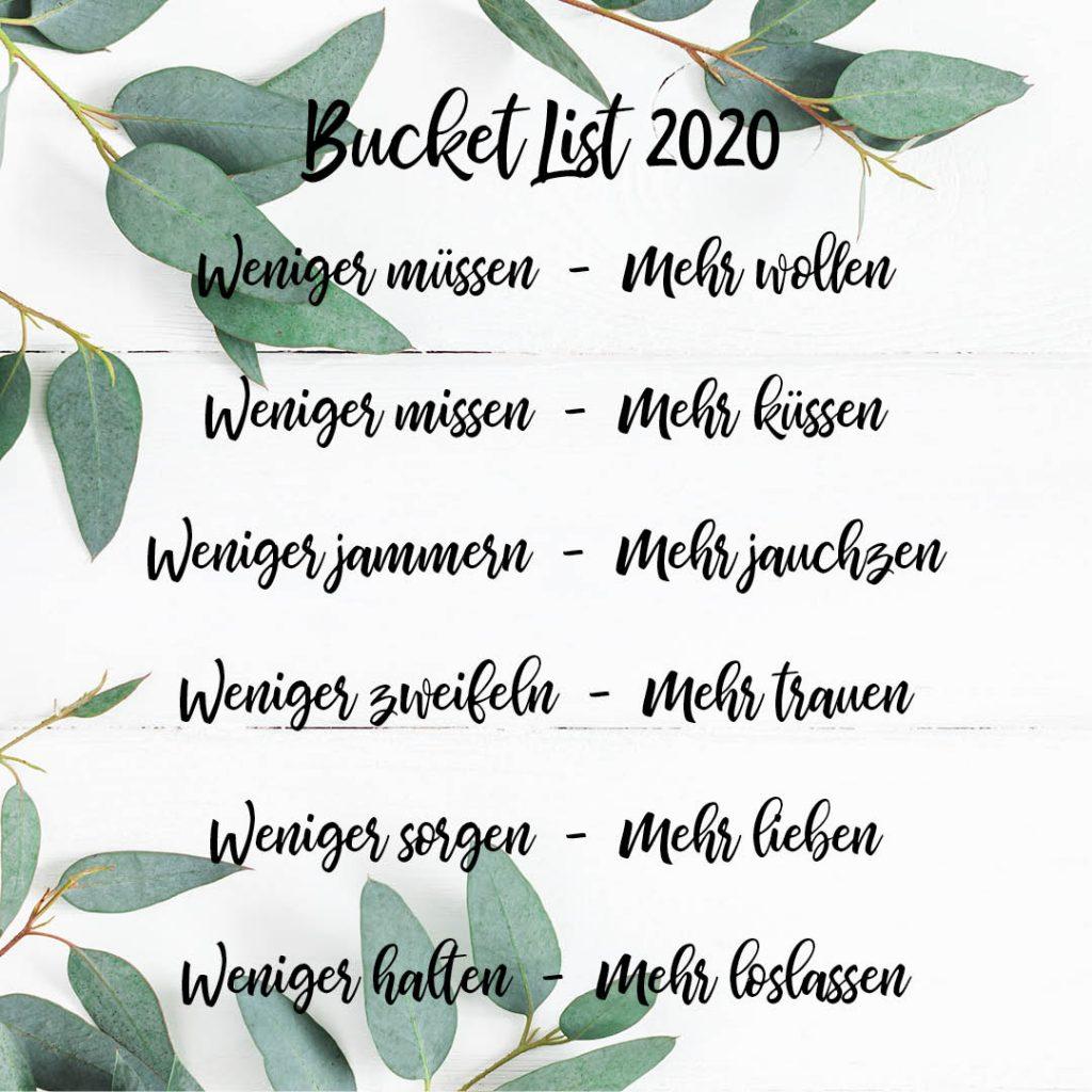 Bucket List 2020
