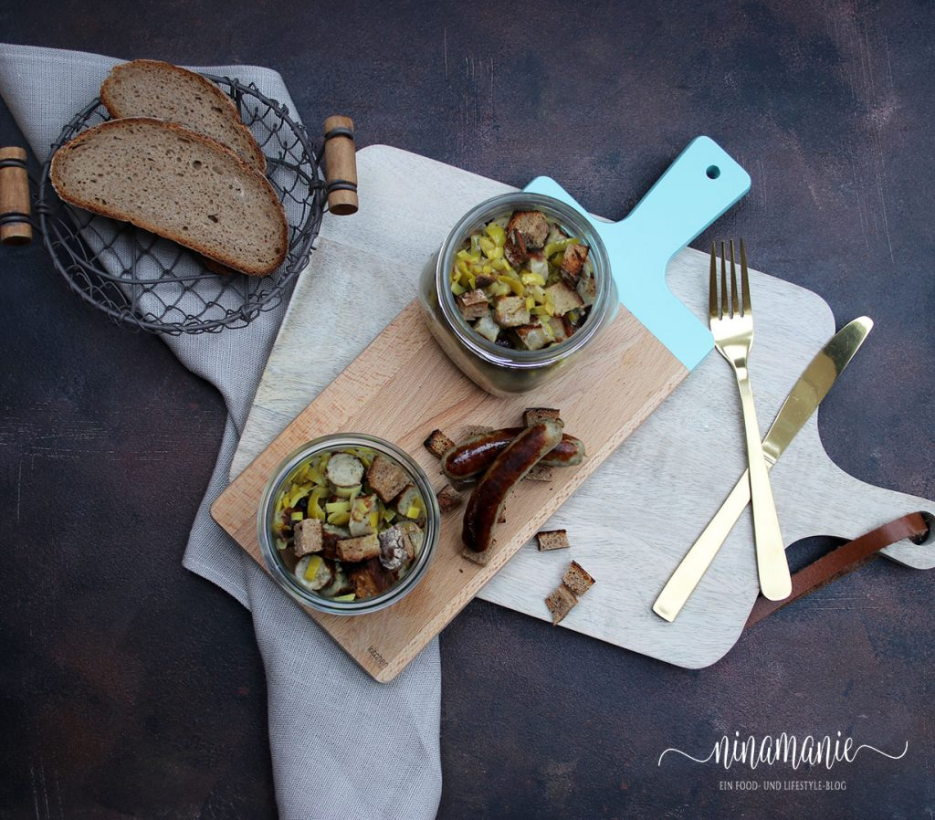 Lauwarmer Nürnberger-Bratwurst-Salat
