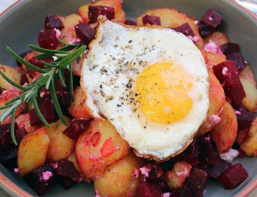 Rote-Beete-Kartoffel-Gröstl