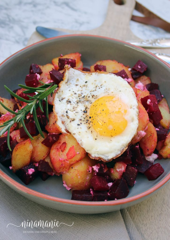 Rote-Beete-Kartoffel-Gröstl – leckere Resteküche