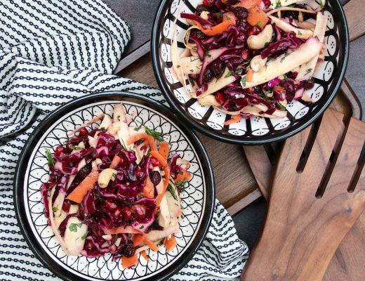 Knackiger Wurzelgemüse-Salat