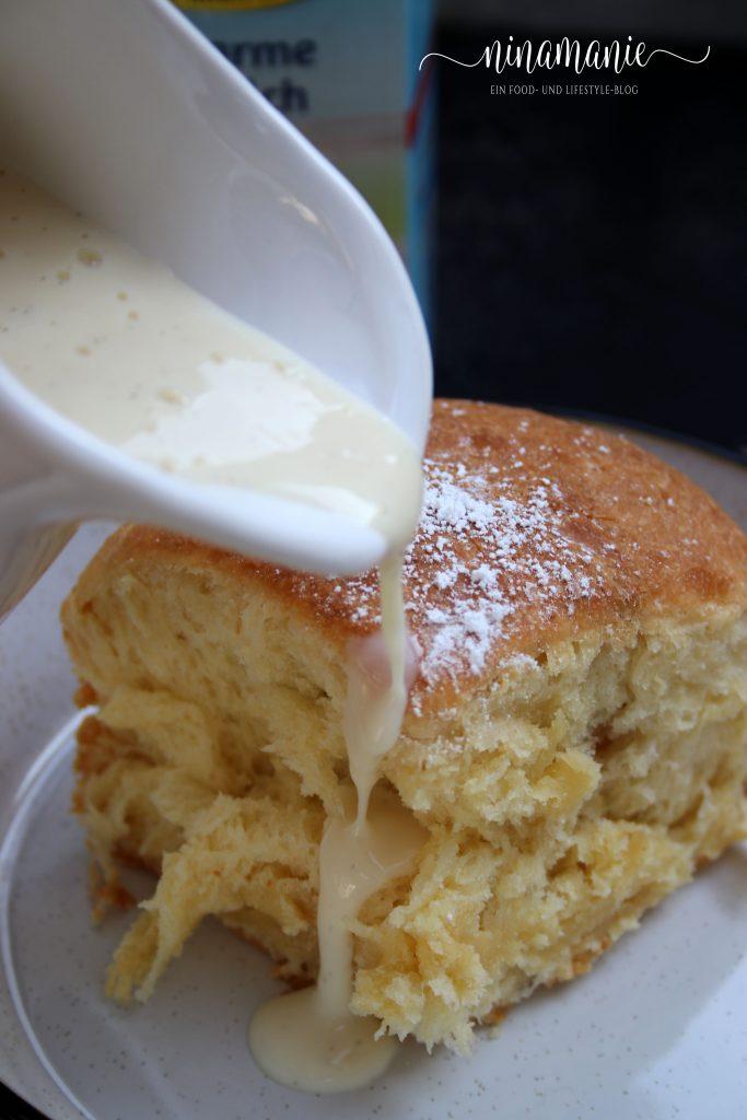 Vanillesoße für leckere Buchteln mit laktosefreier Milch von MinusL