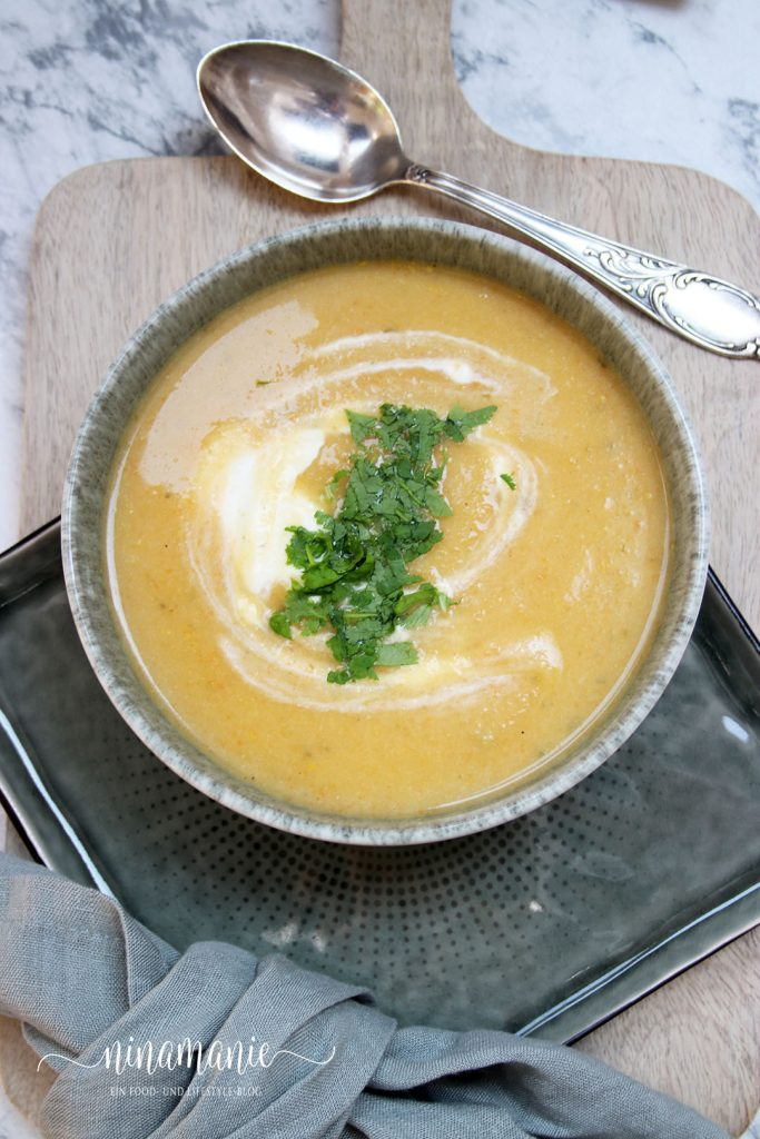 Leckere Suppe mit Blumenkohl