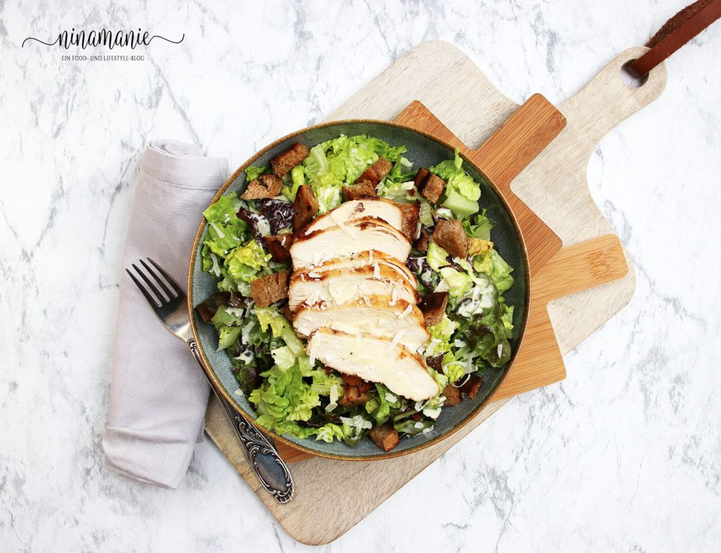 Flatlay Caesar Salad