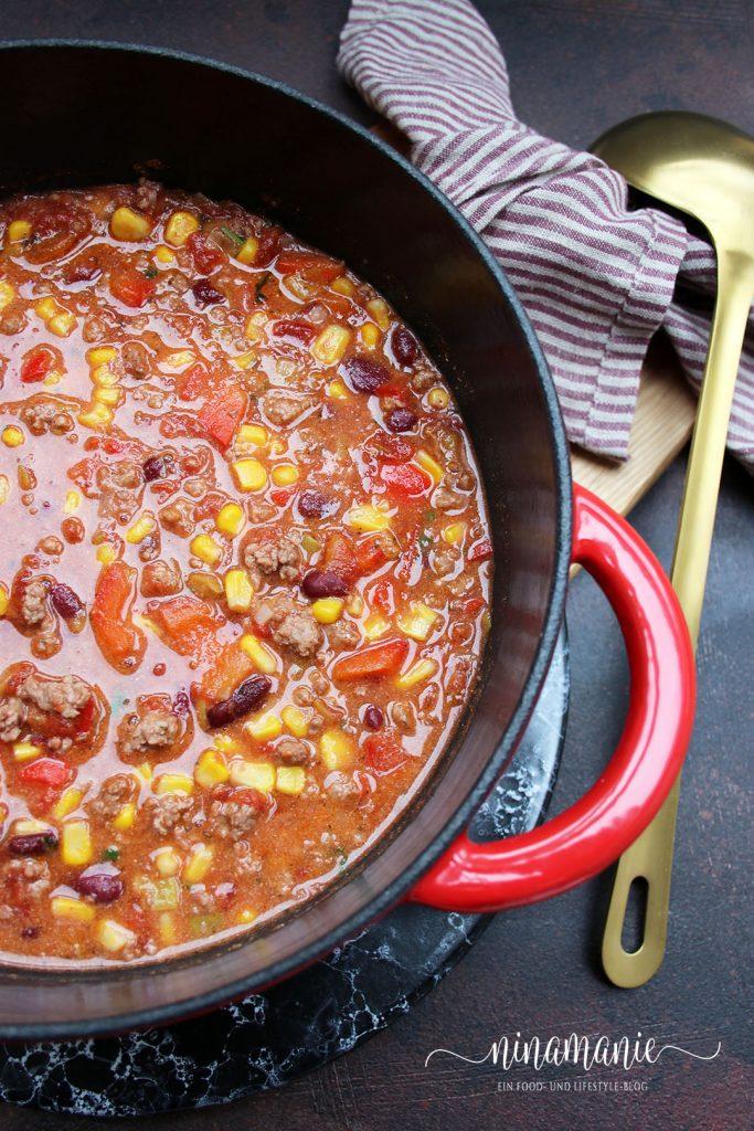 Chili con Carne aus der Cocotte