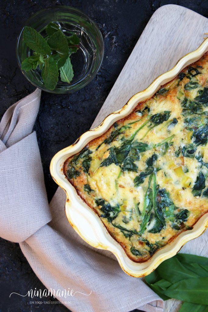 Eier-Speise als Auflauf - Frühlings-Frittata