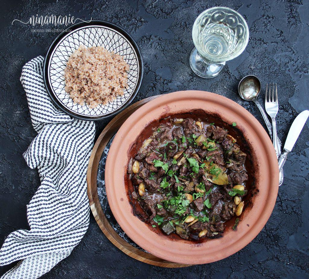Tajine mit Rindfleisch, Datteln und Salzzitronen