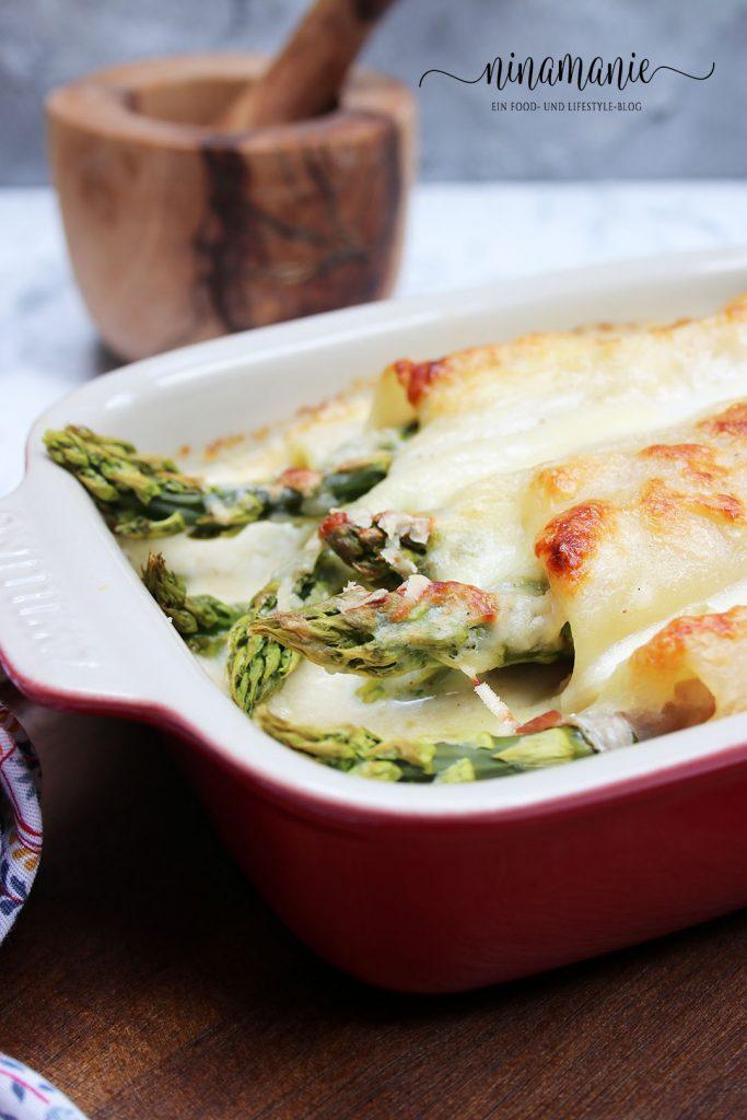 Spargel-Lasagne-Röllchen