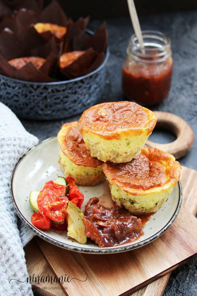 herzhafte Käsekuchen-Muffins