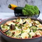 Low car Zucchini-Romanesco-Gratin