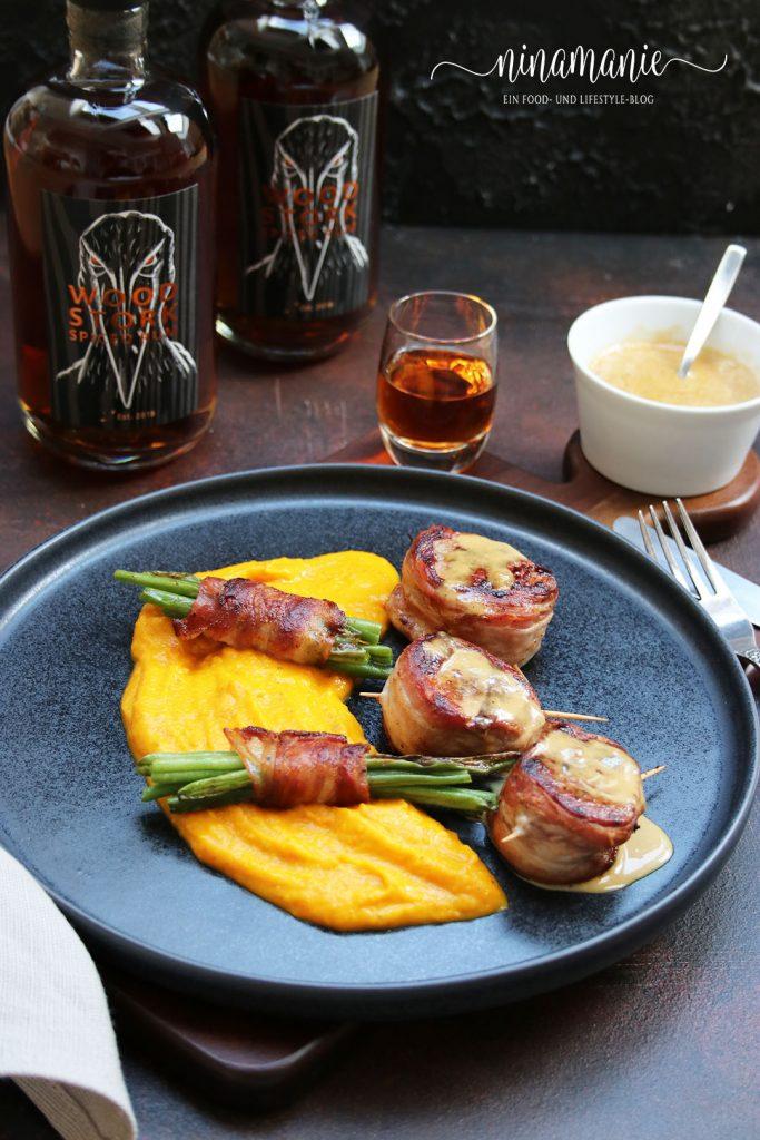 Schweinemedaillons in Rum-Sahne-Soße mit Wood Stork Spiced Rum
