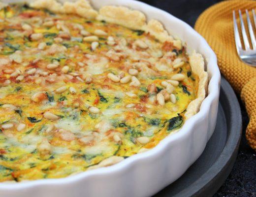 """Spinat-Kürbis-Quiche aus dem Buch """"Einfach nachhaltig kochen"""""""