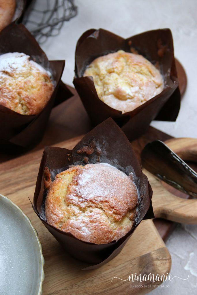 Muffins mit Äpfeln und Ingwer