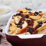 Resteessen - Ofenschlupfer mit Äpfeln und Vanille-Soße