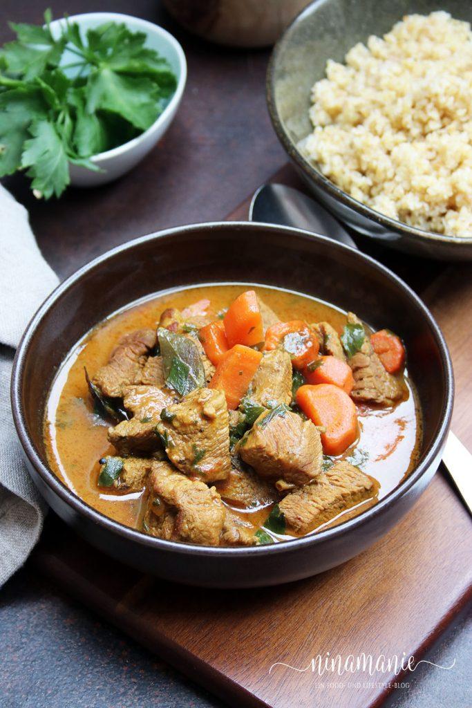 Curry mit Rindfleisch