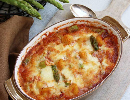 Gnocchi-Spargel-Auflauf